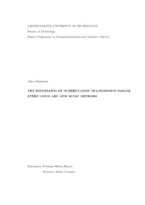 The estimation of tuberculosis transmission parameters using