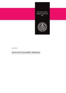 Essays On Stock Market Anomalies Essays On Stock Market Anomalies Karell Ville