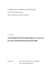 CFD MODELLING OF INDUSTRIAL SCALE GAS FLAME WITH OPENFOAM
